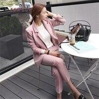 Pant Suits Women Casual Office Business Suits Formal Work Wear Sets Uniform Styles Elegant Pant Suits zh048