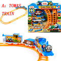 Baby toys Special offer kids toys electric Thomas rail car children train track model slot toy simple orbit car gifts