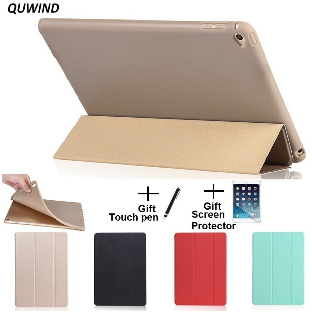 Quwind opaco material suave sueño despierta titular caso de la cubierta protectora para IPad mini 1 2 3 4 IPad 2 3 4