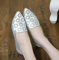 2016 de primavera y Verano Zapatos de Las Sandalias de las mujeres Zapatos Planos zapatos de mujer pisos Arco zapatos del barco Mocasines de cuero genuinos chaussure femme