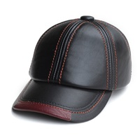 Autumn and winter high quality cowhide cap baseball cap male genuine leather hat male cap for man casual cap