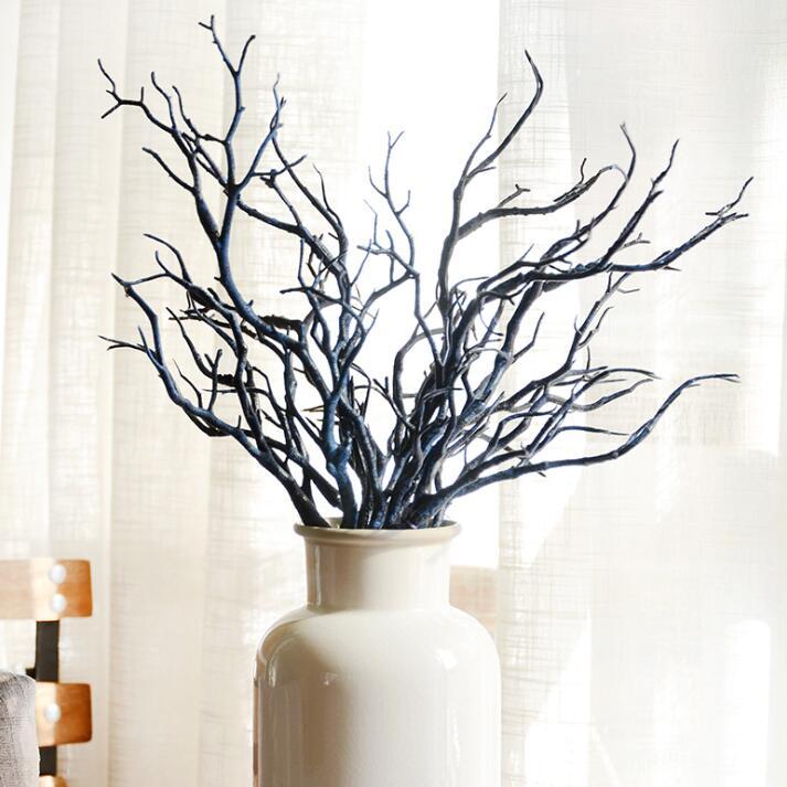 Artificial tree branch wood white plastic small tree dried for Rami secchi decorativi