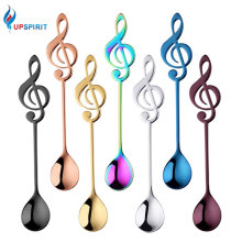Upspirit  Music Note Handle Stainless Steel Spoon Coffee Tea