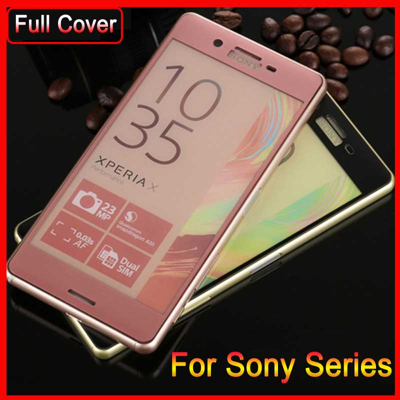 3D Full Cover Tempered Glass For Sony X XA Ultra Screen Protector For Sony Xperia F5122 F3111 F3113 F3115 Protection Film Case