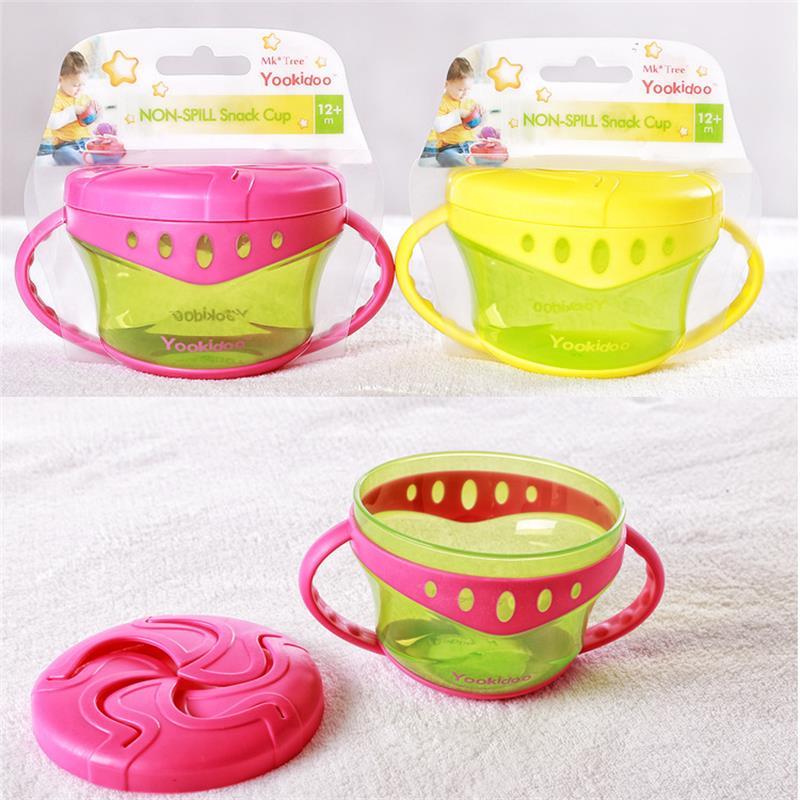 Baby Snack Non Spill Cup Soft plastic portable Portable storage - Memakan kanak-kanak - Foto 1