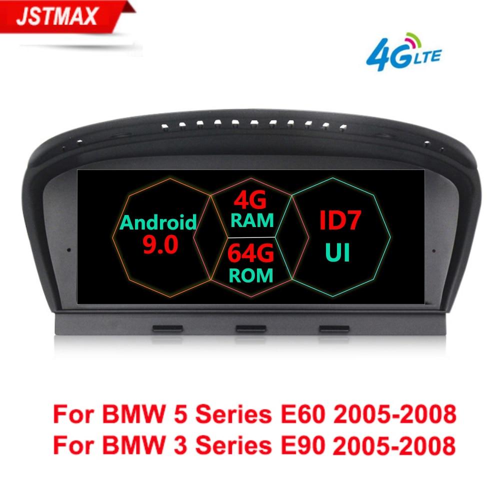 Plus récent Android 9.0 8 Core 4G + 64G 4G LTE autoradio lecteur multimédia GPS Navi pour BMW Série 5 E60 E61 E63 E64 E90 E91 E92 CCC CIC