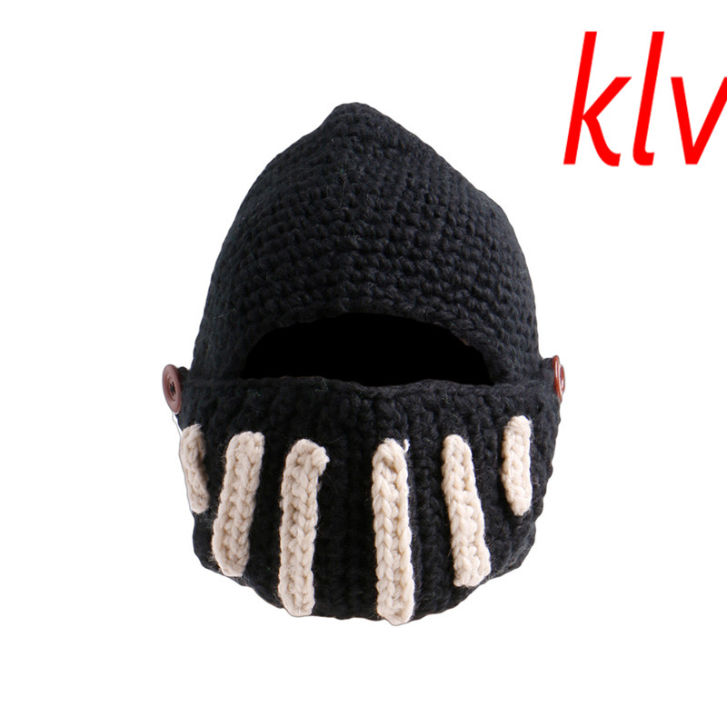 22703d6cae9af Fashion Keep Warm Men Women Roman Knight Helmet Caps Cool Handmade Knit Ski  Hat Winter Hats Gorro Funny Party Ski Mask Beanies