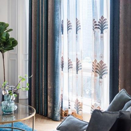Nouveau solide couleur dégradé moderne minimaliste velours rideau ...
