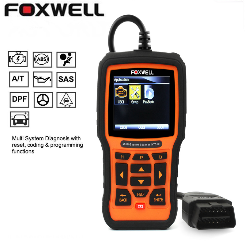 FOXWELL NT510 Fit BMW ABS SRS Oil Service Reset Code Reader Diagnostic Scan Tool