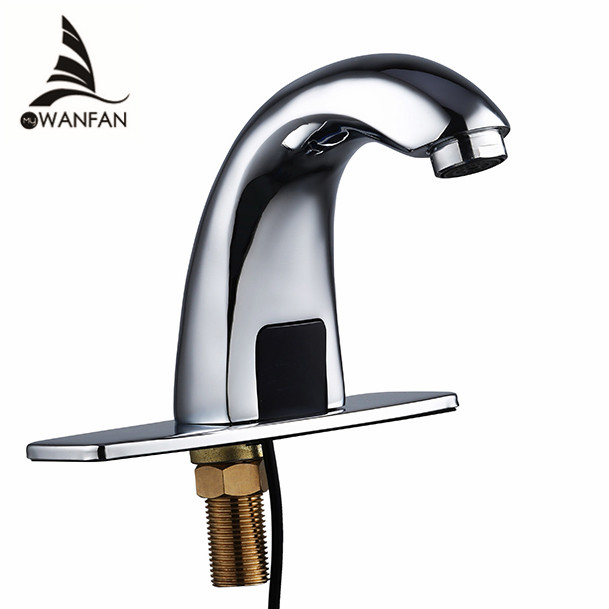 ФОТО Free shipping Automatic inflared Sensor water saving Faucets Inductive Kitchen bathroom Basin Sink electric Water Tap cold water
