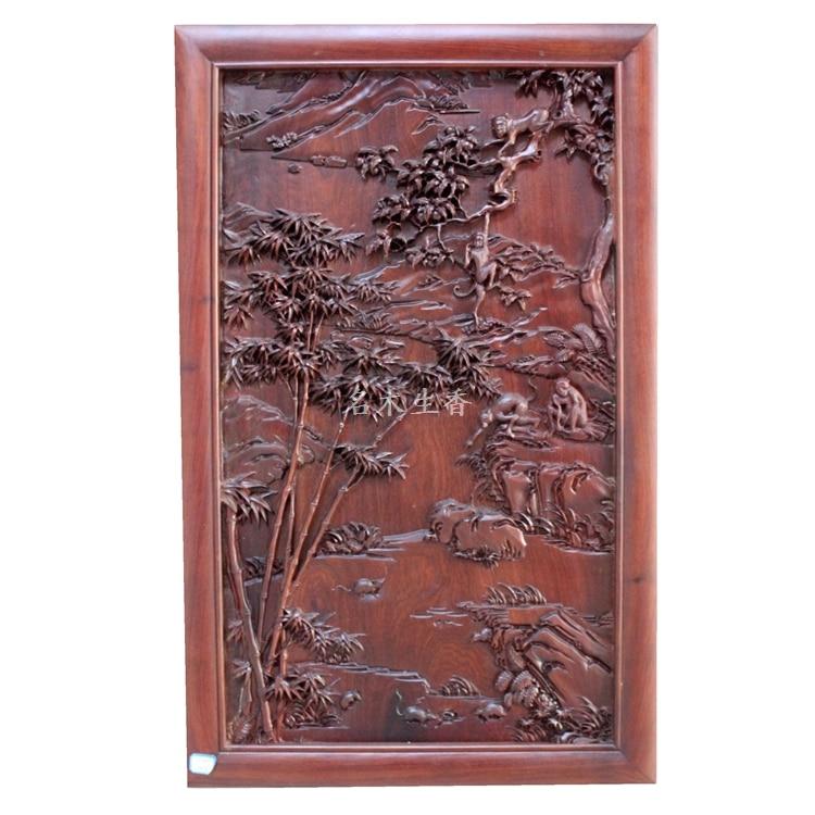 купить Dongyang wood carving plaque hanging boutique cross screen Chinese classical background of Burma pear Monkey Pendant по цене 152314.4 рублей