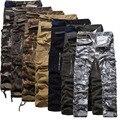 SevenColor Mens Joggers Marca 2017 Pantalones Masculinos Pantalones de Algodón Color Sólido Guardapolvos Militares Pantalones Deportivos Pantalones Joggers Pantalones Casual
