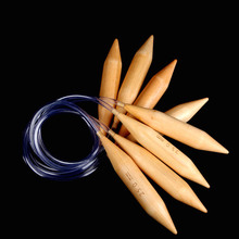 3PC15mm /20mm /25mm knitting needle crochet hook carbide ring needle crochet sweater bamboo Carbonized Circular loopy mango