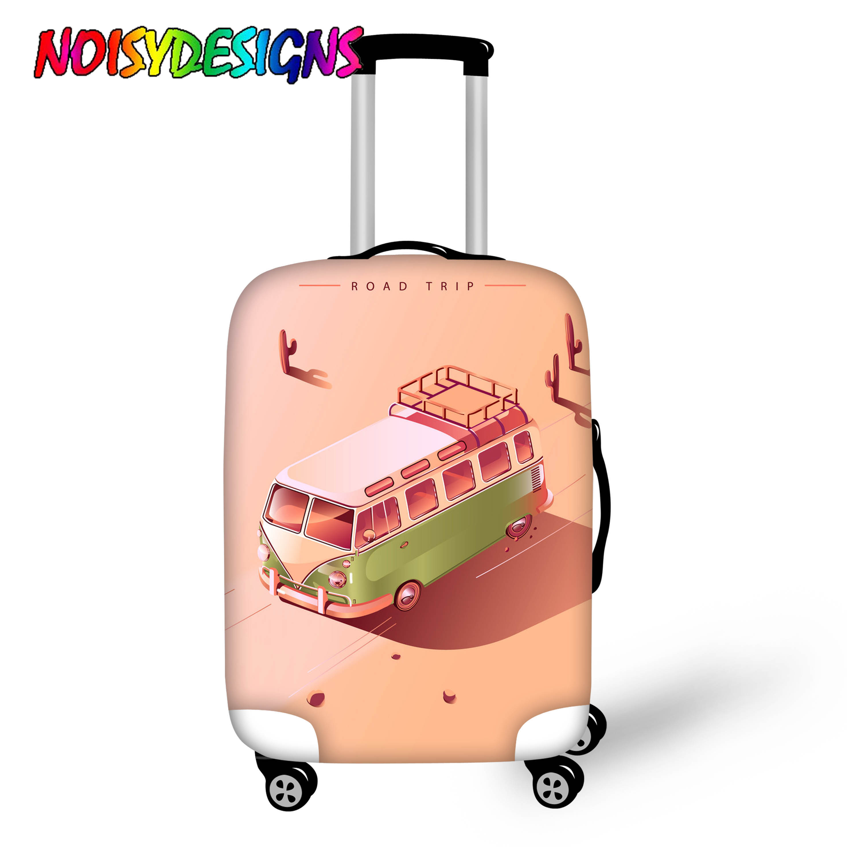 NOISYDESIGNS Suitcase Case Bag Cute Bus Print Travel Accessories Travel Trolley Suitcase Protective Cover For 18-30 Inch Luggage