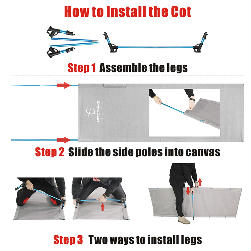 camping cot How to Install the Cot