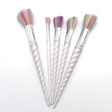 5pcs Beauty Girl Professional Makeup Foundation Spiral Brush Handle Eyebrow Eyeliner Blush Cosmetic Concealer Powder Brushes Set