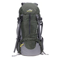 50L Outdoor Backpack Camping Bag With Waterproof Cover Mountaineering Hiking Backpacks Molle Sport Bag Climbing Rucksack