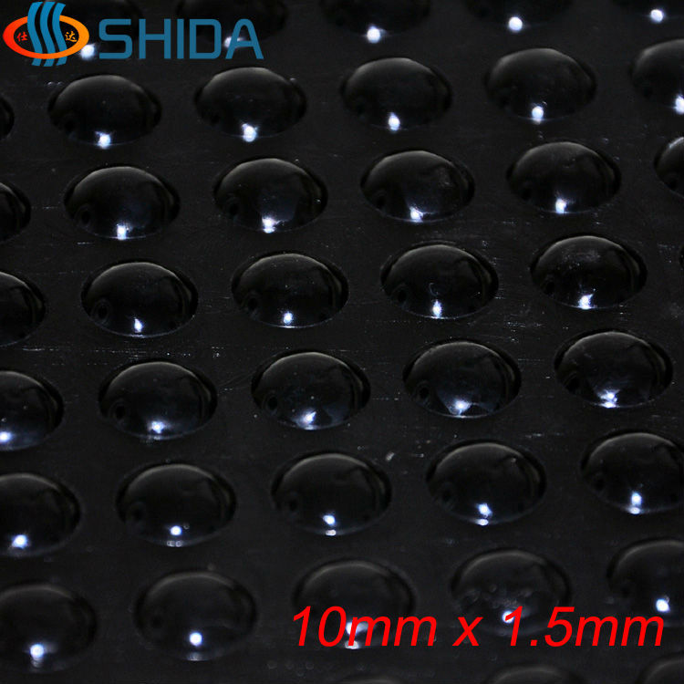 100 Pcs 10 X 1.5 Mm Self Adhesive Hemisphere Silicone Rubber Bumpers Soft Transparent Black Anti Slip Feet Pads Damper