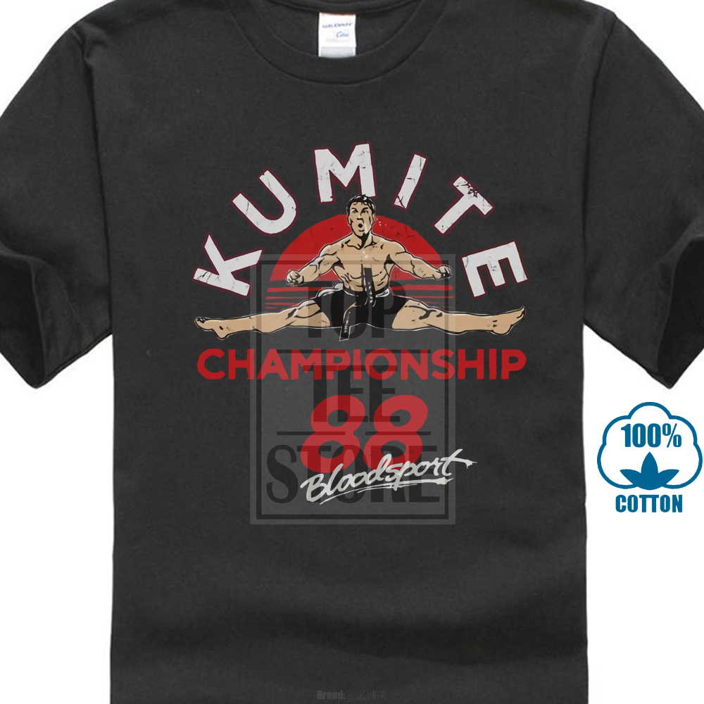 Bloodsport Movie Championship <font><b>88</b></font> Licensed Adult <font><b>T</b></font> <font><b>Shirt</b></font> Couples Funny Brand Clothes Slim Fit Blacking image