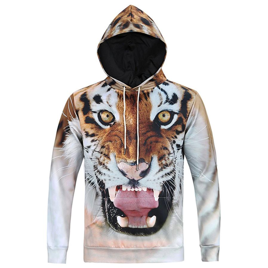 MUQGEW Fashion Tiger hooded shirts men/women printed 3d hoodies Casual graphic hoodie funny Sweat shirt tie-dye Sweatshirt tops