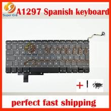 5pcs/lot new original For Macbook Pro 17″ A1297 MD318 MC725 MC024 Original Laptop Spanish/Spain Keyboard SP Keyboard Replacement