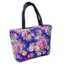 Hot Sale Fashion Floral Design Female Mini Handbags Quality Canvas Printing Small Casual Tote Bag Women's Shopping Bag Wholesale