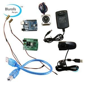 Reprap Ciclop kit electrónico de escáner 3d, motor, láser, controlador UNO, placa de expansión de escaneo ZUM, enchufe, kit completo de cámara