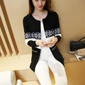 2017 Autumn Korean women outwear Slim fashion wild striped plus size sweater and long sections Women cardigan MZ833