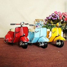 Retro scooter model locomotive creative gift 77278 rustic home decor  decorations for christmas