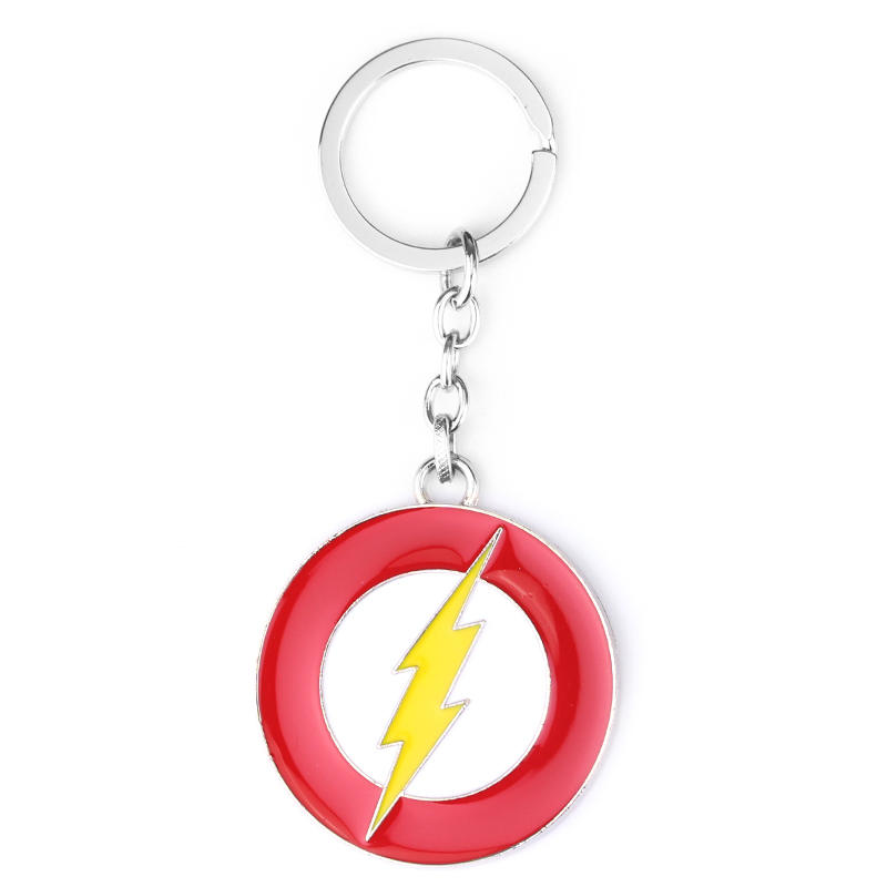 Fashion America Movie The Flash Lightning Key Chain Logo Keychain Keyring Gift Key Ring Holder For Car Souvenirs Accessories