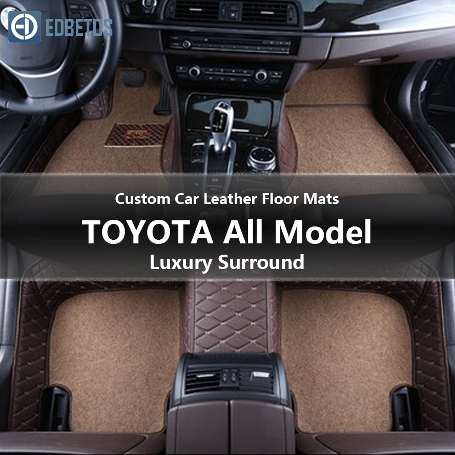 Custom Car Leather Floor Mats for Toyota 4Runner COROLLA LEVIN Alphard SEQUOIA AE86 Sienna All Models Waterproof Wire Floor Mat