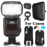INSEESI IN 560 IV IN560IV PULS Wireless High performance LED Flashlight +TF 361 Flash Trigger+Godox 60*60cm Softbox For Canon