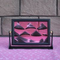 妖精風景モデルガラス置物砂時計3d砂絵ガラス工芸品誕生日ギフトホームデコレーションアクセサリー置物