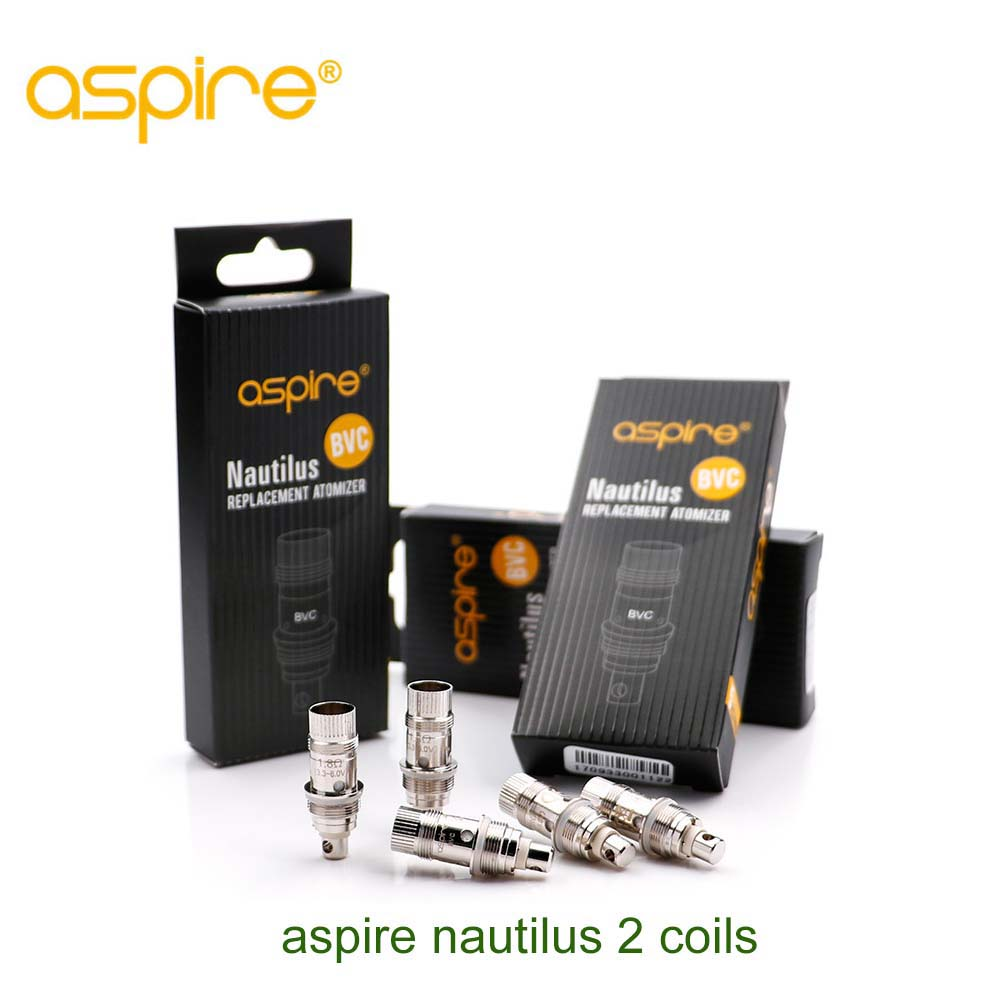 5pcs/pack Original Aspire Nautilus 2 BVC Coil e cigarette aspire coils fit for Nautilus Mini / K3 /Triton Mini Coil accessory e cigarettes aspire bdc coil 1 6 1 8 2 1ohms replacement bottom dual coil head for aspire vaporizer 5pcs lot