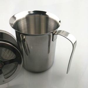 1 шт. 400 мл Современный нержавеющая сталь 304 кофе шоколадный чай Мока капучино Кафе молочный пузырь кофе латте арт горшок PH 003