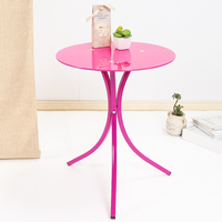 Fashion Simple Tempered Glass Small Coffee Table Phone Rack Sofa Corner Furniture Round Table