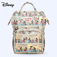 Disney Large Capacity USB Waterproof Diaper Bags Oxford Cloth Insulation Bags Bottle Feeding Storage Bag Mummy Travel Backpack