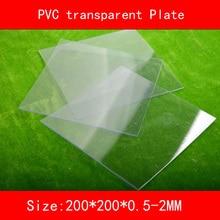 2pcs PVC transparent Sheet Plastic Clear plate size 200*200mm thickness 0.5mm 0.8mm 1mm 1.5mm 2mm
