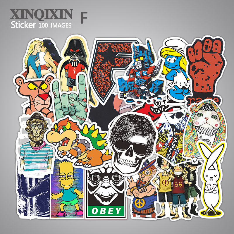 700 kinds of style selected 95pcs lot Mixed stickers for laptop sticker skateboard PVC stickers for
