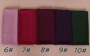 Image 3 - 115*115cm Popular High quality square size bubble chiffon shawls hijab headband wrap muslim 38 color scarves/scarf 10pcs/lot