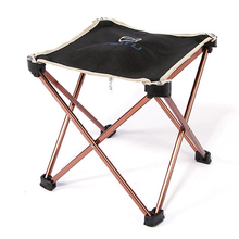 Ultralight Outdoor 7075 Aluminum Alloy Foldable Chair Fishing Seat Camping Picnic BBQ Garden Chair Fishing Square Stool