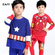 EASY BIG Height:85-130CM Breathable Cotton Knitted Children Pajamas Sets Classical Characters Boys Sleepwear Kid Pyjamas CC0093