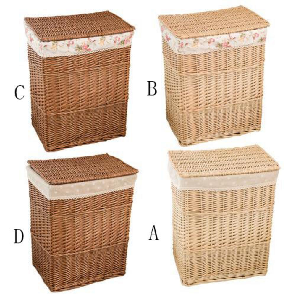 Rattan Laundry Dirty Clothes Home Storage Basket Large Storage Box Wicker Mesh Laundry Bag Laundry Hamper With Lid