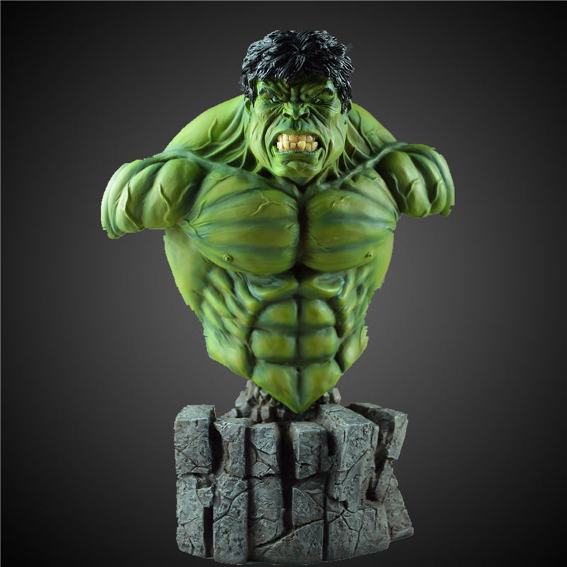 все цены на [Funny] 30cm 1/4 The Avengers heros Hulk Coloring resin action figure statue toys Collection model Desktop Decoration gift онлайн