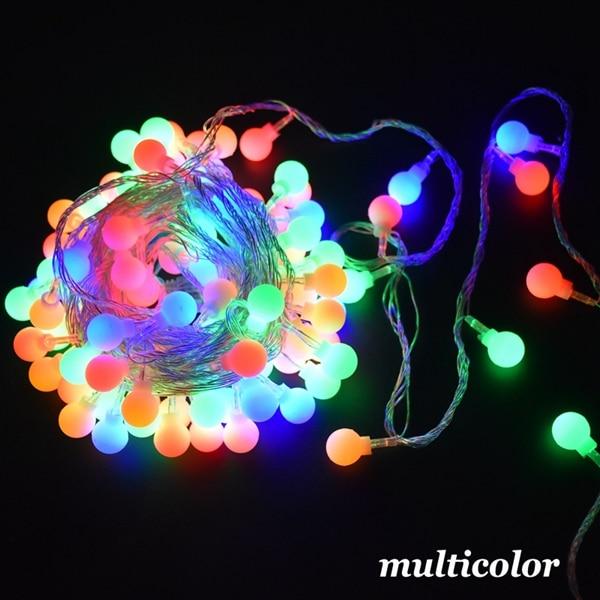 3 м 6 м 10 м сказочная гирлянда светодиодный шар гирлянды водонепроницаемый для рождественской елки свадьбы дома внутреннего украшения на батарейках - Испускаемый цвет: Multicolor