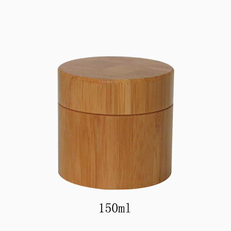 10pcs 150g Empty Bamboo BB/CC/Essence/Vanishing Cream Jar Pot with Plastic inner bottle 150ml Cosmetic Package Makeup Containers