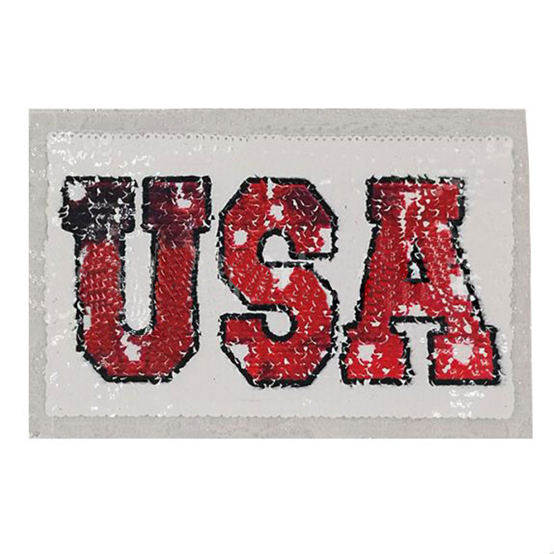 215mm usa diy letters patch deal with it clothes iron on patches for clothing t shirt sequins stickers halloween christmas gifts