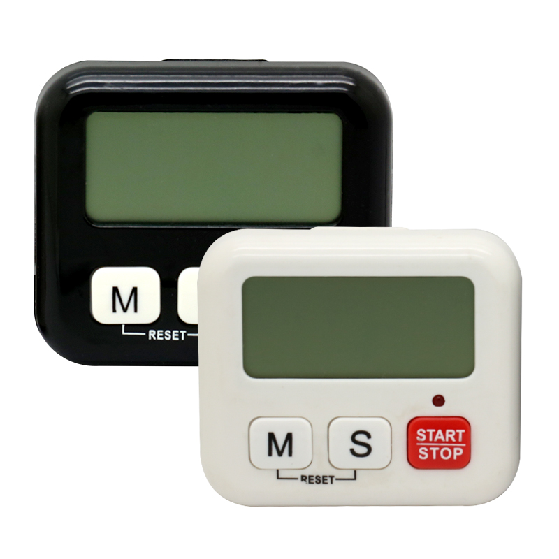 1 Piece White Kitchen Clock Digital LCD Cooking Timer Sport Count-Down Up Clock Alarm Reminder