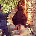 Sexy Backless Chic Short 2016 Lace Applique Arabic Formal Wear Vestido De Festa Curt Cocktail Dress Party Gowns Prom dress gowns