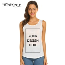 Meaneor Soft Solid Summer Shirts DIY Design Casual Women T-Shirt O-Neck Sleeveless Top